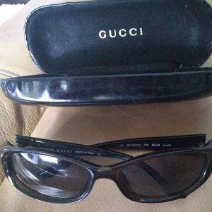 Gucci GG 2456/S Designer Black Sunglasses -Vintage